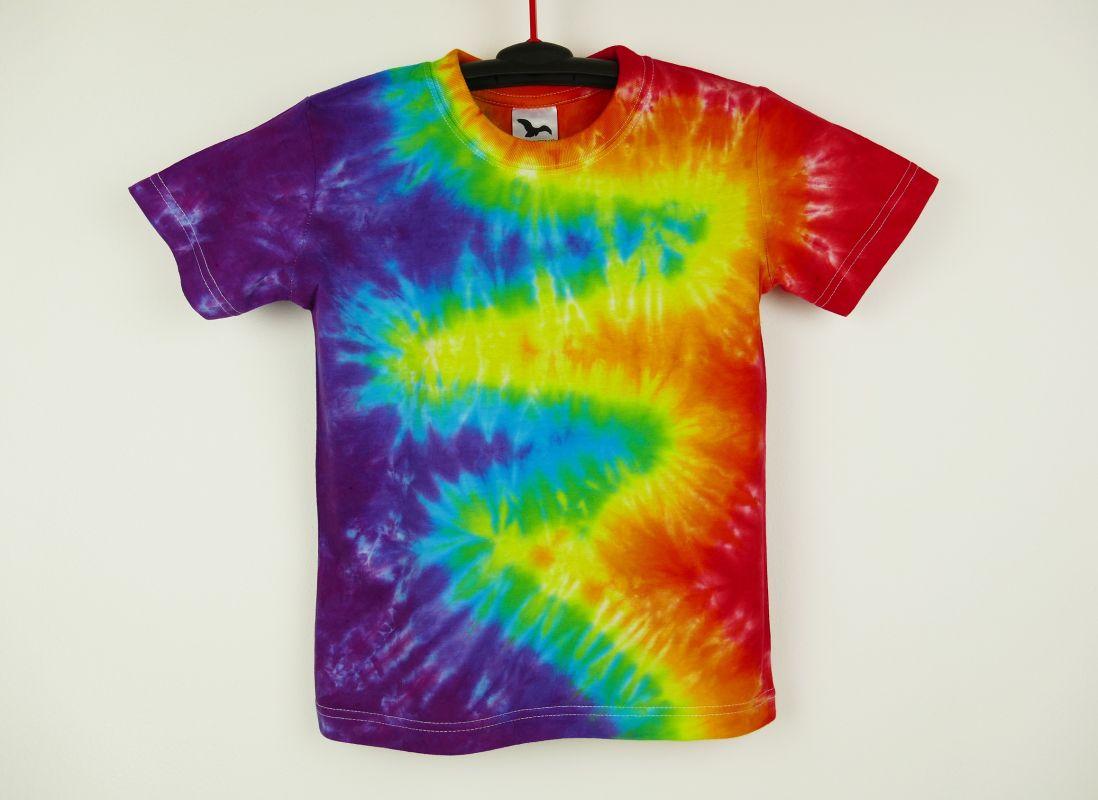 Dětské duhové tričko batika