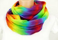 Duhový šátek bavlna batika