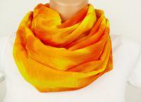 Batikovaný šátek žlutý sluneční