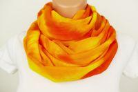 ŠÁTEK TUNEL na krk batika ŽLUTÝ SLUNEČNÍ