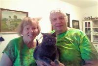 Zdena a Jarek s kočkou :-)