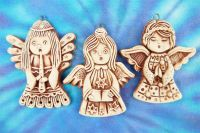 ANDĚLÍČCI z keramiky SADA Tři andělé