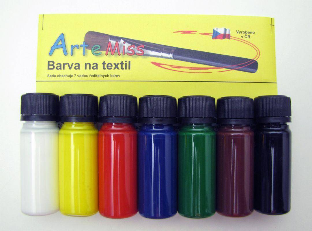 Barvy na světlý textil - sada