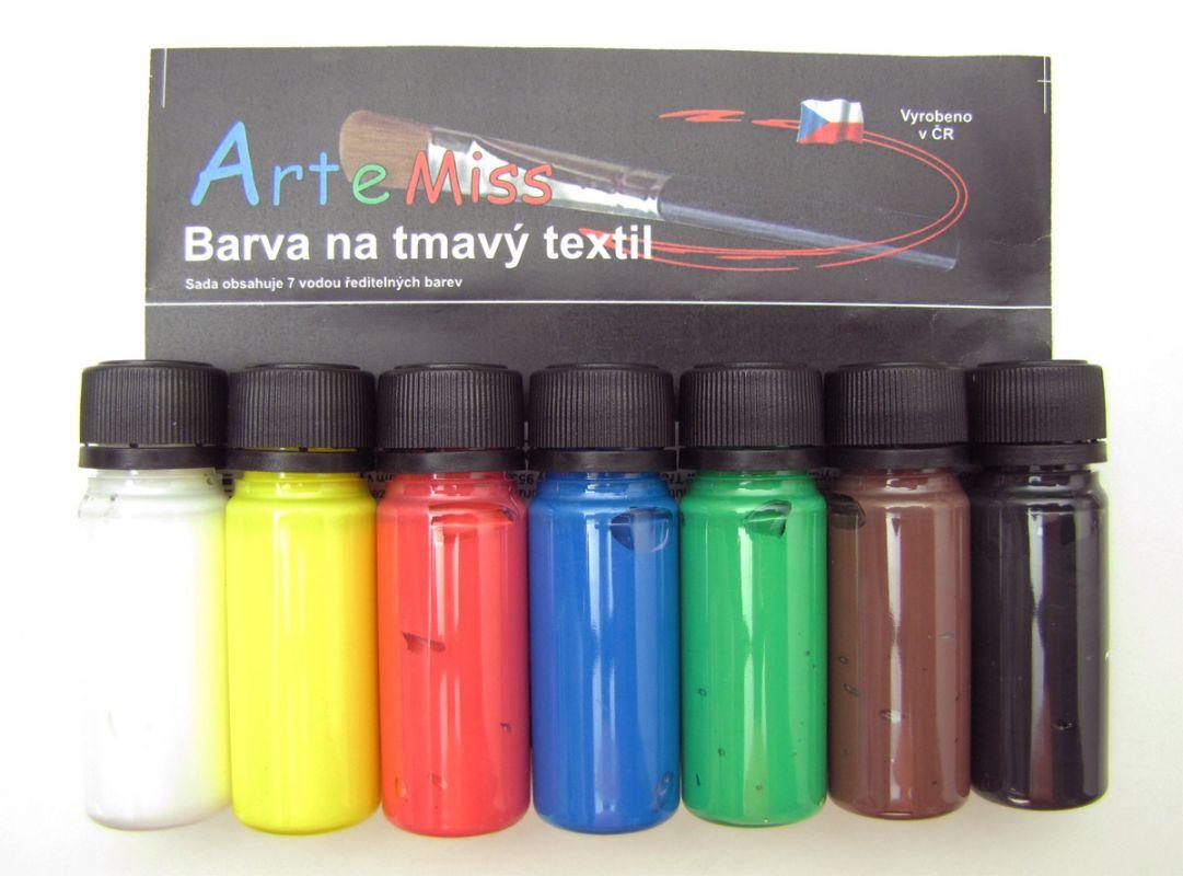 Barvy na tmavý textil Artemiss - sada