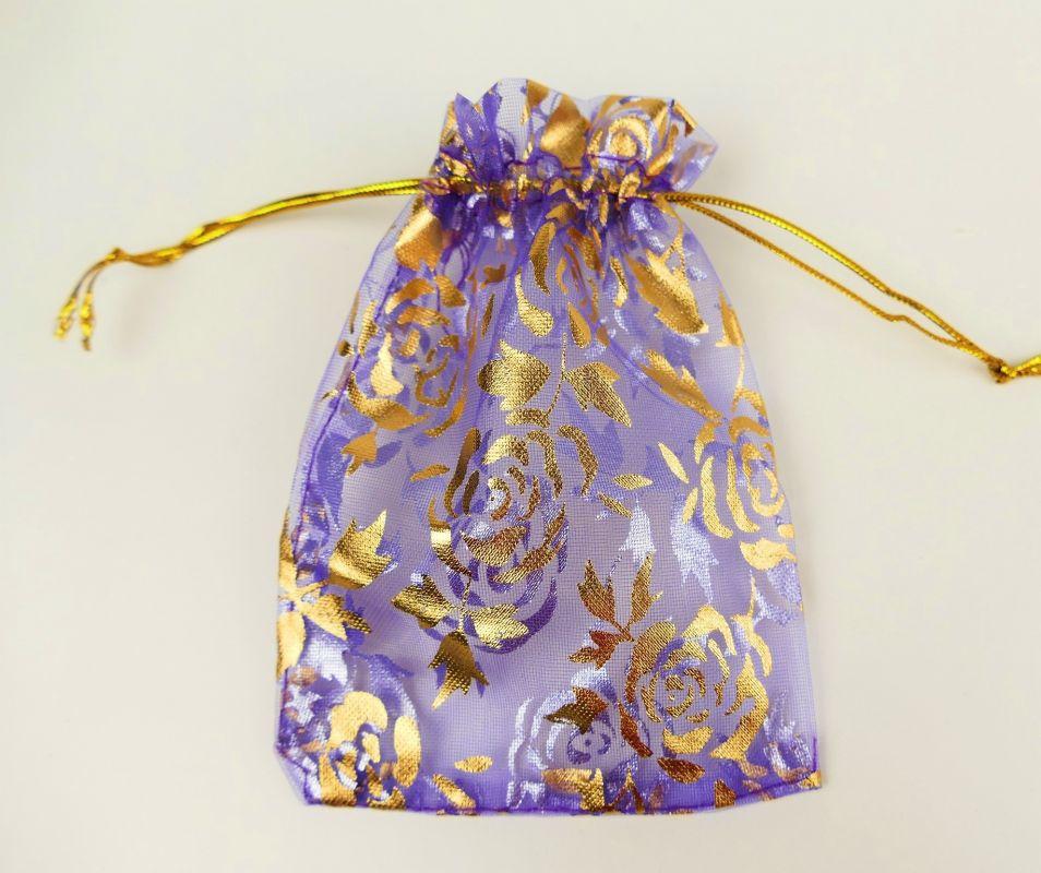 Organický dárkový sáček fialový