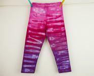 Dětská legíny TŘÍČTVRŤÁKY batika RŮŽOVÉ