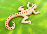 Keramická ještěrka dekorace