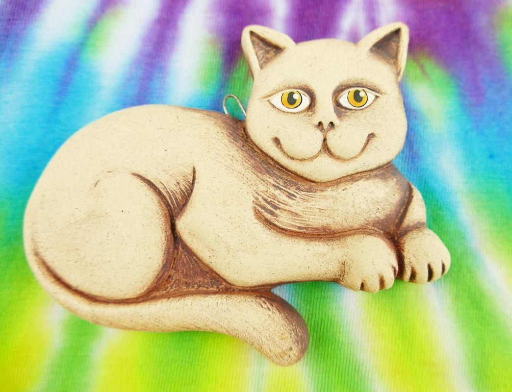 Keramická kočka na zeď