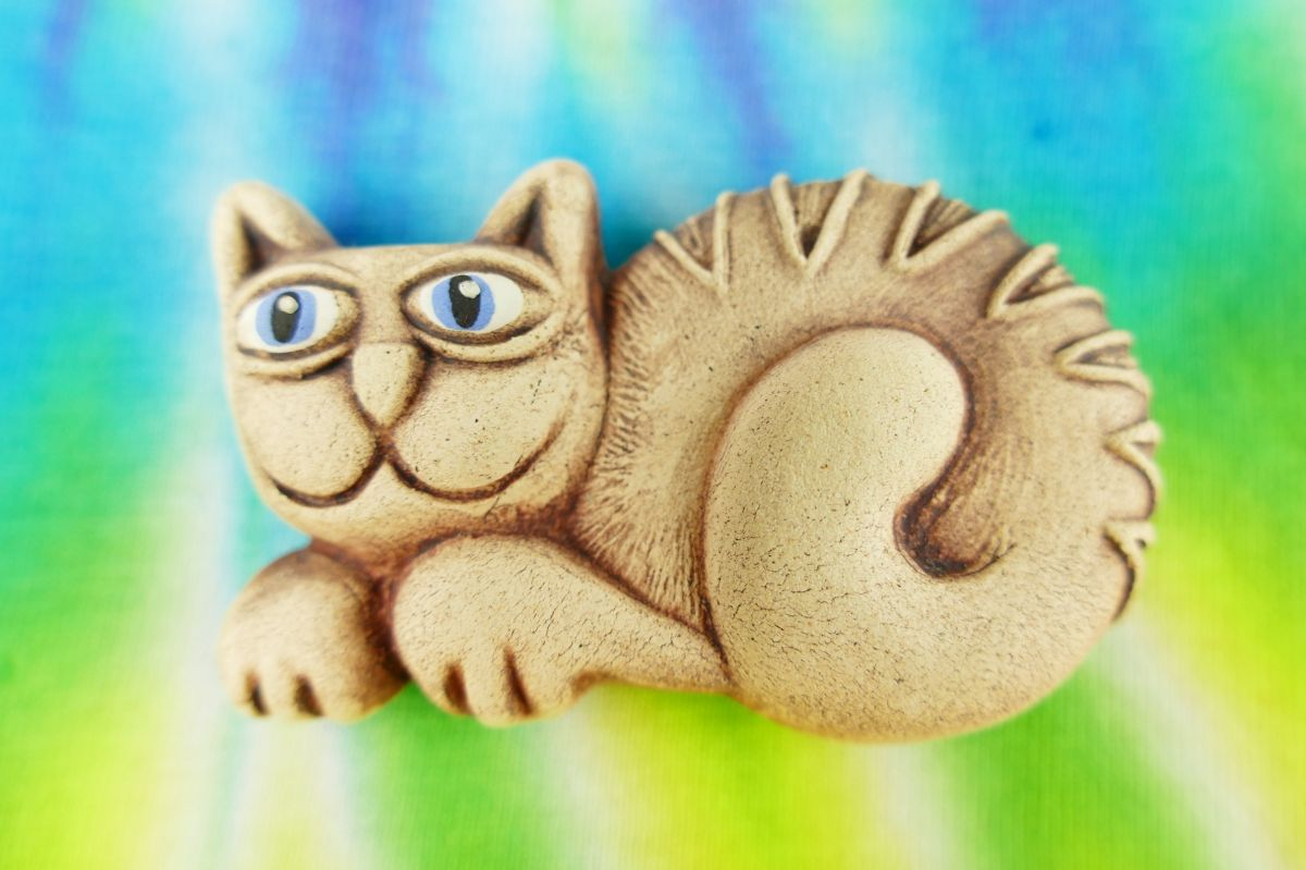 Kočka keramická magnetka