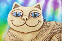 Keramická kočka sedící
