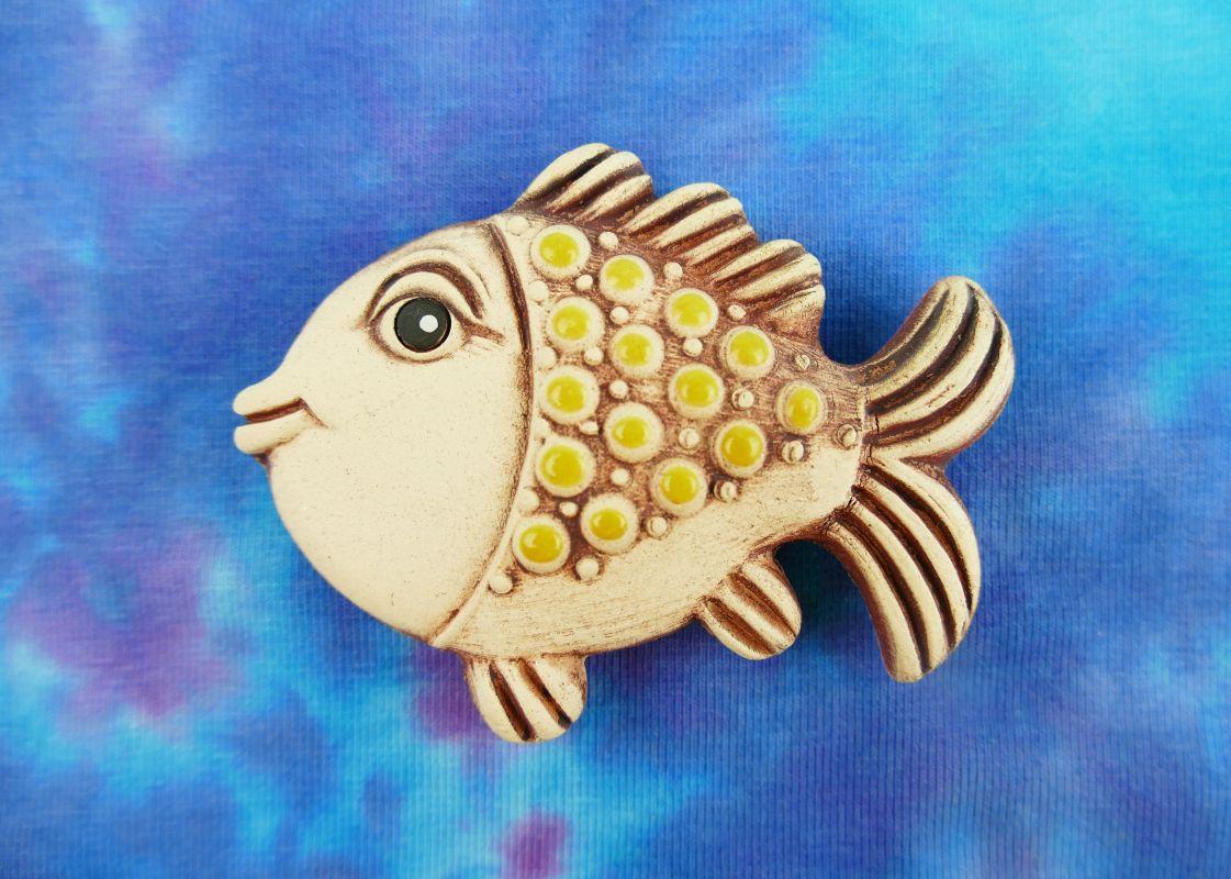 Keramická ryba magnet