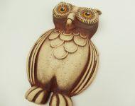 Keramická sova dekorace na zeď