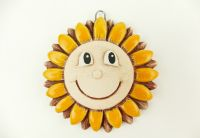 Keramické sluníčko žluté