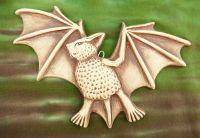 Keramický netopýr dekorace na zavěšení