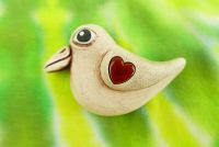 Keramický ptáček magnetka