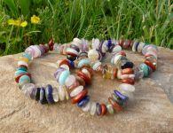 Náramky z drahých kamenů mix oválky