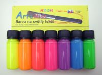 Neonové barvy na světlý textil - sada