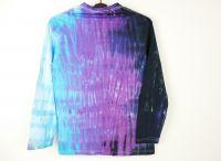 Batikované tričko modré Black ice
