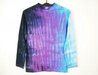 Batikované tričko dlouhý rukáv BLUE ICE, M