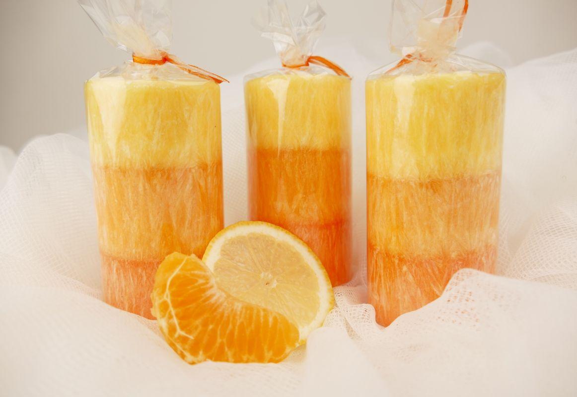 Vonné svíčky mandarinka a citron