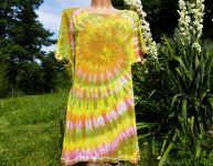 Dámské dlouhé tričko (šaty) PINK OLIVA, XL