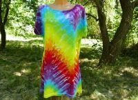 Dámské dlouhé tričko (šaty) RAINBOW DUO, XL