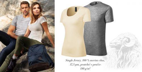 Extra jemná luxusní trička z merino vlny