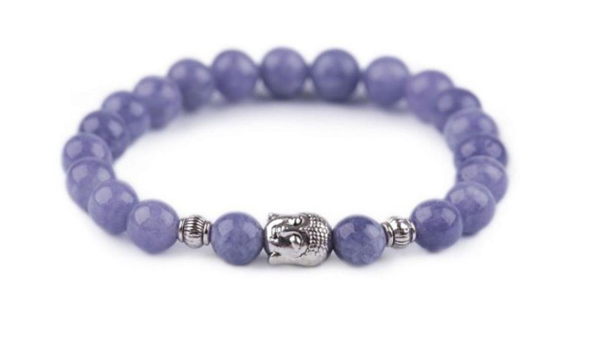 Náramek modrý avanturín symbol buddhy