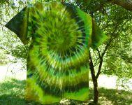 Zelené batikované tričko