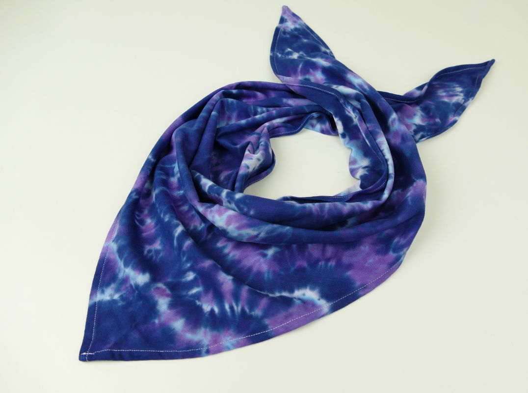 Modré vlny šáteček bavlna