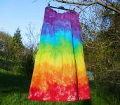 SUKNĚ ROSA Duhová Barvy čaker -  batika na objednávku