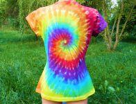 Dámské tričko duhová spirála