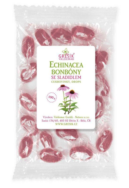 Bonbóny echinacea se sladidlem