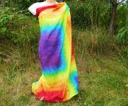 Duhový šátek velký pareo batika