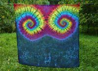 Duhové pareo velký šátek batika
