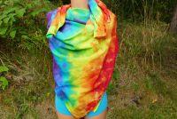Duhový batikovaný šátek velký pareo