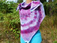 Fialové pareo velký šátek batika