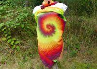 Velký batikovaný šátek Happy pareo