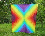 Velký duhový šátek pareo batika