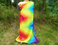 PAREO Šátek velký MAGICKÉ OBRAZY batika, 140x135cm