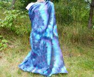 Modrý ornament šátek velký batika