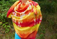 Ohnivý velký šátek batika