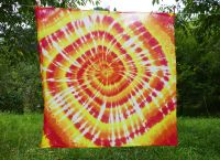 PAREO Šátek velký OHNIVÝ batika, 140x135cm