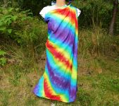 PAREO Šátek velký RAINBOW SPIRIT batika, 140x130cm