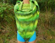 Velký zelený šátek batika pareo