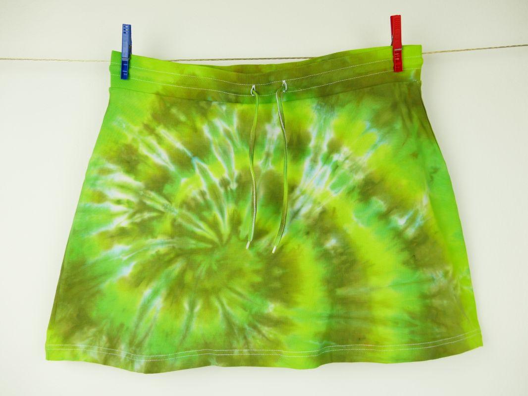 Zelená batikovaná sukýnka