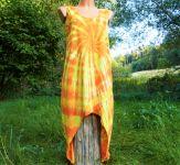 ŠATY bavlněné na ramínka batika SLUNEČNÍ - na objednávku