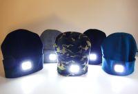 ČEPICE S LED SVĚTLEM - Tmavé barvy
