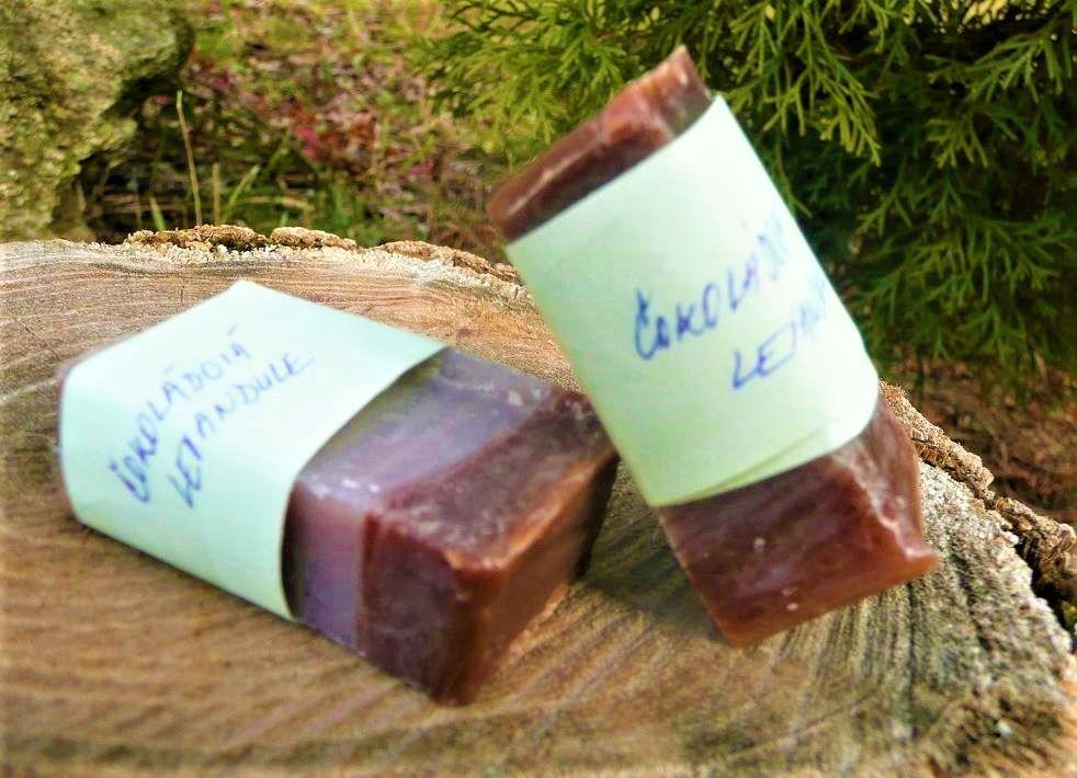 Čokoláda a levandule přírodní mýdlo