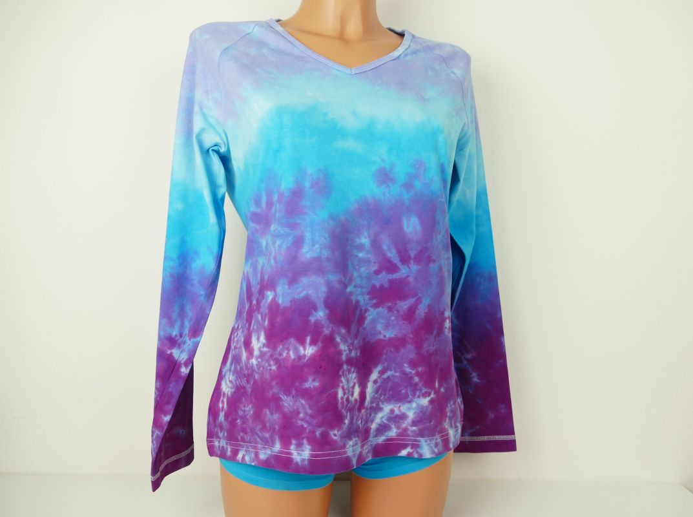 Dámské batikované tričko Fialky